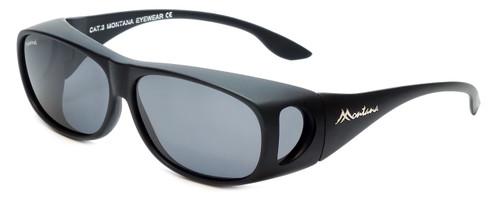 Montana Designer Fitover Sunglasses F02G in Matte Black & Polarized Grey Lens