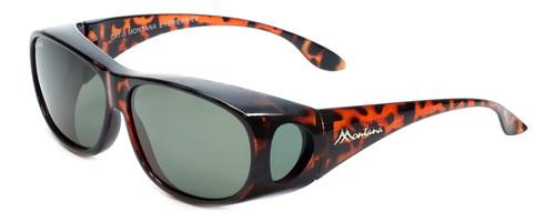 Montana Designer Fitover Sunglasses F03 in Gloss Tortoise & Polarized G15 Green Lens