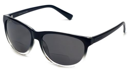 Coyote BP-18 Polarized Bi-focal Reading Sunglasses in Black & Grey