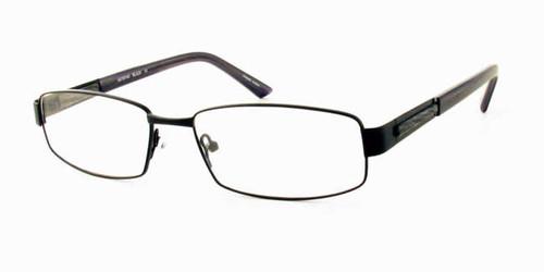 Dale Earnhardt, Jr. Eyeglass Collection 6702 in Satin Black :: Custom Left & Right Lens