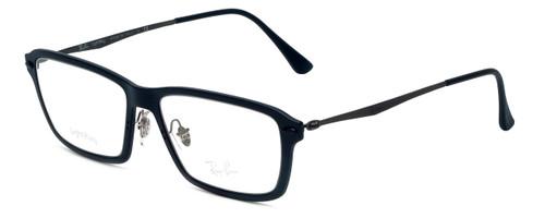 Ray-Ban Designer Eyeglasses RX7038-2077 in Matte-Black 53mm :: Custom Left & Right Lens
