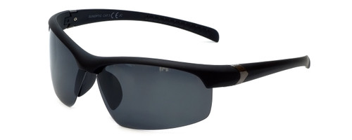Montana Eyewear Designer Polarized Sunglasses SP302 in Matte-Black & Grey Lens
