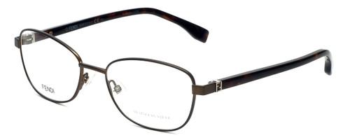 Fendi Designer Eyeglasses FF0012-7SR in Matte Brown Havana 53mm :: Custom Left & Right Lens