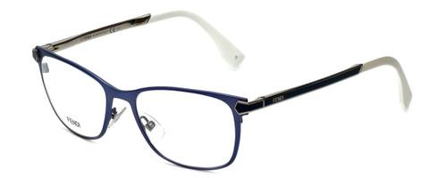 Fendi Designer Eyeglasses FF0036-XW9 in Matte Blue 52mm :: Rx Single Vision