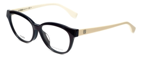 Fendi Designer Eyeglasses FF0044F-MGX in Burgundy Cream 53mm :: Rx Single Vision