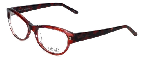 Badgley Mischka Designer Reading Glasses Madeline in Wine 53mm