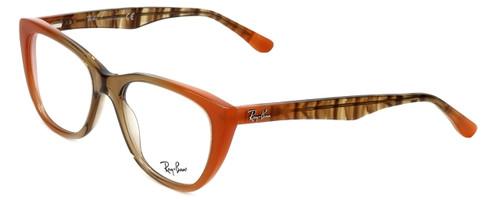 Ray-Ban Designer Eyeglasses RB5322-5487 in Peach-Brown 53mm :: Custom Left & Right Lens