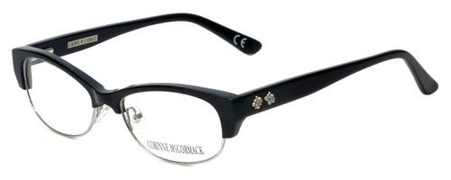Corinne McCormack Designer Eyeglasses Delancey in Black 53mm :: Custom Left & Right Lens