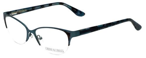 Corinne McCormack Designer Eyeglasses Gramercy in Teal 52mm :: Custom Left & Right Lens