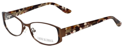 Corinne McCormack Designer Eyeglasses Murray Hill in Brown 52mm :: Custom Left & Right Lens