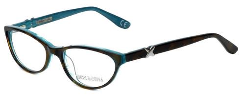 Corinne McCormack Designer Eyeglasses Riverside in Tortoise-Teal 52mm :: Custom Left & Right Lens