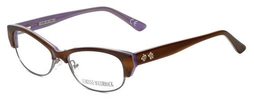 Corinne McCormack Designer Eyeglasses Delancey in Stripe-Demi 53mm :: Rx Bi-Focal