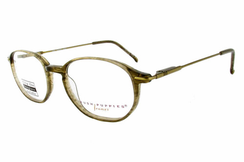 Hush Puppies Eyeglass Collection 320 in Olive :: Custom Left & Right Lens