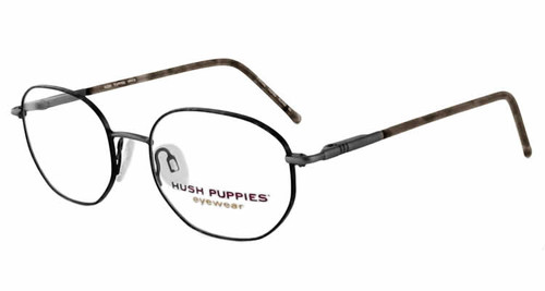 Hush Puppies Eyeglass Collection 412 in Pewter-Tortoise  :: Custom Left & Right Lens