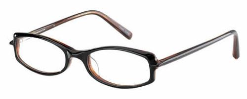 Jones NY Designer Eyeglasses J203 in Black Amber :: Custom Left & Right Lens