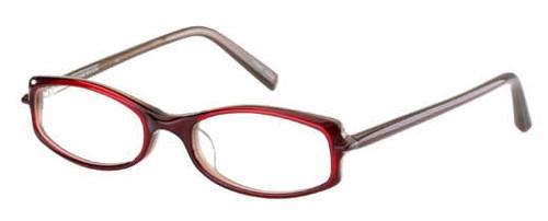 Jones NY Designer Eyeglasses J203 in Red Brown Horn :: Custom Left & Right Lens