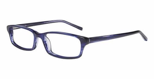 Jones NY Designer Eyeglasses J739 in Blue :: Custom Left & Right Lens