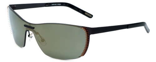 Renoma Designer Sunglasses Remus 4560 in Black with Gold Mirror Lens