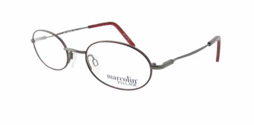 Marcolin Designer Eyeglasses 6715 47 mm in Aged Bronze :: Custom Left & Right Lens