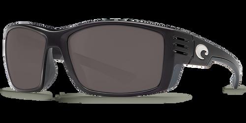 Costa Del Mar Cortez 580P Polarized Sunglasses, Shiny Black with Grey Lens