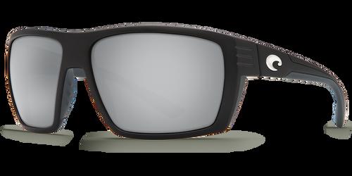 Costa Del Mar Hamlin 580G Polarized Sunglasses, Matte Black with Silver Mirror Lens