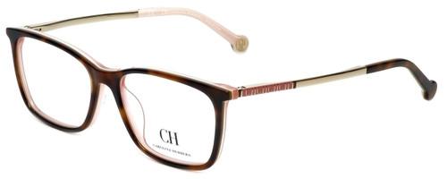 Carolina Herrera Designer Eyeglasses VHE722K-06YD in Brown-Horn 53mm :: Custom Left & Right Lens