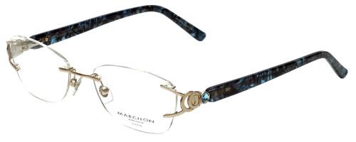 Marchon Designer Reading Glasses Airlock 830-219 in Gold 52mm