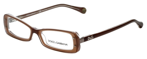 Dolce & Gabbana Designer Eyeglasses DD1227-1981 in Brown 49mm :: Custom Left & Right Lens