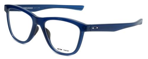 Oakley Designer Eyeglasses Grounded OX8070-0553 in Frosted-Navy 53mm :: Custom Left & Right Lens