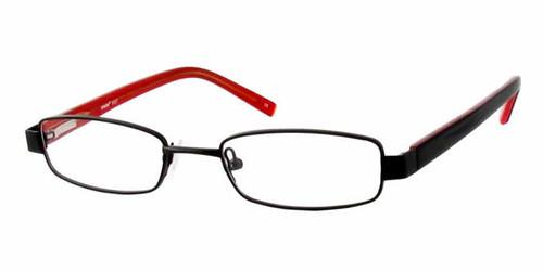 Seventeen Designer Eyeglasses 5327 in Black-Red :: Custom Left & Right Lens