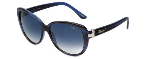 Chopard Designer Sunglasses SCH129S-0WTG in Black-Blue with Grey-Gradient Lens