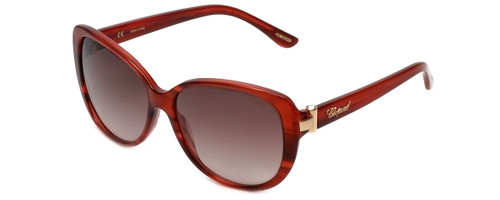 Chopard Designer Sunglasses SCH129S-0WTF in Red with Brown-Gradient Lens