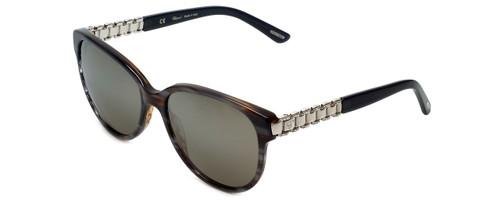 Chopard Designer Sunglasses SCH150S-1EXX in Grey-Striped with Brown-Mirror Lens