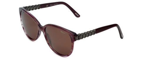 Chopard Designer Sunglasses SCH150S-06XD in Violet-Striped with Brown Lens