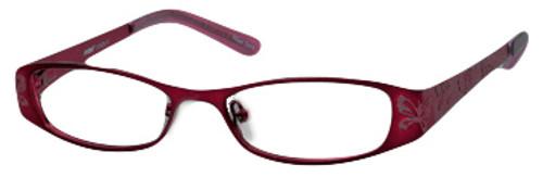 Seventeen Designer Eyeglasses 5335 in Burgundy :: Custom Left & Right Lens