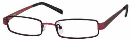 Seventeen Designer Eyeglasses 5337 in Black-Red :: Custom Left & Right Lens