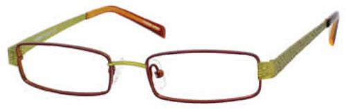 Seventeen Designer Eyeglasses 5337 in Brown-Lime :: Custom Left & Right Lens
