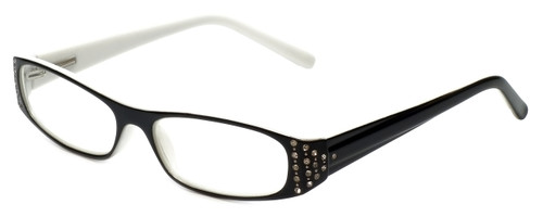 Corinne McCormack Designer Eyeglasses Lexi in Black-White 50mm :: Rx Single Vision