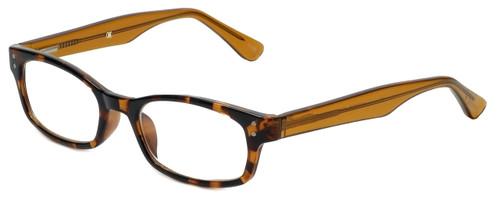 Corinne McCormack Designer Reading Glasses Channing in Amber-Tortoise 47mm
