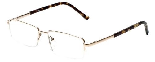 Calabria R783 Semi-Rimless Metal Designer Reading Glasses in Brown or GunMetal