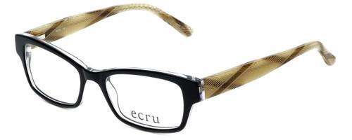 Ecru Designer Eyeglasses Stefani-028 in Ink 50mm :: Custom Left & Right Lens