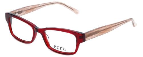 Ecru Designer Eyeglasses Stefani-030 in Lipstick 50mm :: Custom Left & Right Lens
