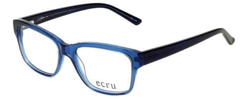 Ecru Designer Reading Glasses Collins-038 in Blue 53mm