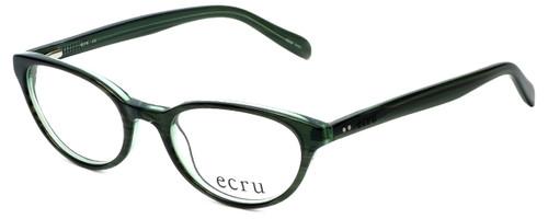 Ecru Designer Reading Glasses Daltrey-007 in Green 50mm