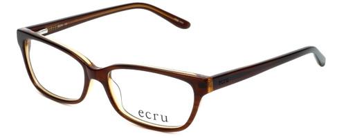 Ecru Designer Reading Glasses Beck-004 in Brown 53mm