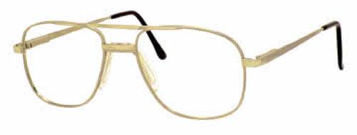 Boulevard Boutique Designer Eyeglasses 3125 in Gold :: Custom Left & Right Lens
