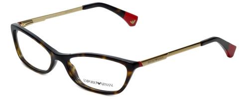 Emporio Armani Designer Eyeglasses EA3014-5026-52 in Havana Red 52mm :: Rx Single Vision