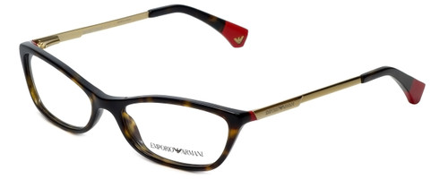 Emporio Armani Designer Eyeglasses EA3014-5026-54 in Havana Red 54mm :: Rx Single Vision