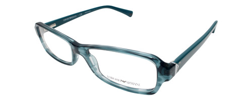 Emporio Armani Designer Eyeglasses EA3016-5101 in Blue Green 53mm :: Rx Single Vision