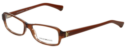 Emporio Armani Designer Eyeglasses EA3016-5099-53 in Striped Brown 53mm :: Rx Bi-Focal